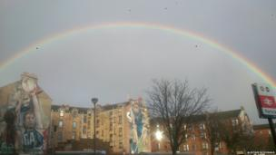 Rainbow over Partick