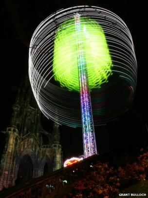 Star Flyer ride in Edinburgh