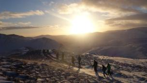 Walkers on the Cairngorms