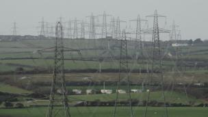 Sally Tolladay took this picture of pylons from Wylfa on Anglesey as they cross the island, heading for Menai