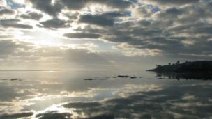 The view from the Cob at Porthmadog looking towards Borth y Gest, captured by Graham Bond