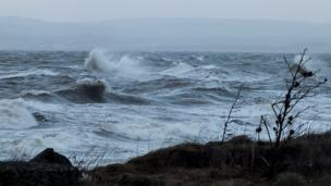 Waves off the coast of Troon
