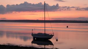Y Foryd bay on the Menai Strait, Caernarfon