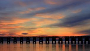 Tay Bridge at sunset