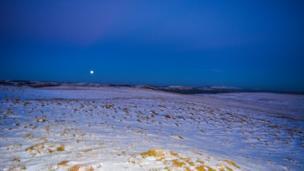 Penrhiw Wen in the Elan Valley, Rhayader looking East towards Abbeycwmhir.