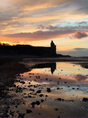 Greenan Castle sunset