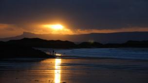 Sunset in Morar