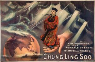 Chung Ling Soo, A Gift from the Gods, lithographic poster in colours, printed by J. Upton Ltd