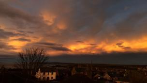 Sunset over Thurso