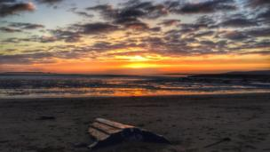 Owain Butterworth took this picture from Machynys in Llanelli
