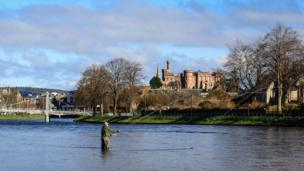 Alistair Williams pictured this fisherman at work in Inverness.