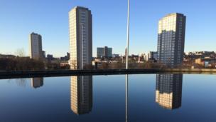 Speirs Wharf, overlooking Cowcaddens, in Glasgow.