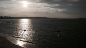 Thomas Duffy from Edinburgh was on hand at Gullane Beach just before sunset.