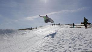 Snowboarding at CairnGorm Mountain