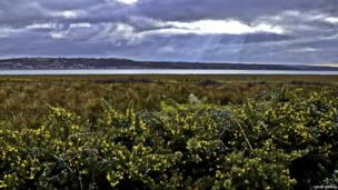 North Gower from the Millennium Coast Path near Llanelli, Carmarthenshire, taken by Colin Riddle