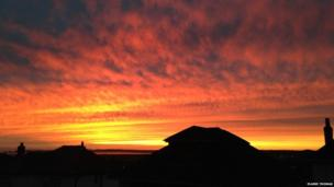 Elaine Thomas took this picture of the sunset over Baglan, Neath Port Talbot