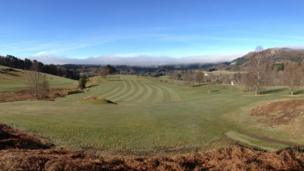 The Braan over Dunkeld from Dunkeld and Birnam Golf Club.