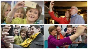 Nicola Sturgeon selfies