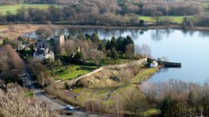 Duddingston castle and loch