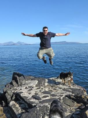 Stu at Ardnamurchan Point