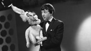 Keith Harris with his rabbit puppet Percy Picktooth on Let's Laugh