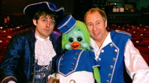 Keith Harris and Orville with Louis Theroux