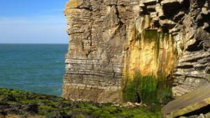 Pete Whitehead, of Y Felinheli,,Gwynedd, found this colourful rock formation while exploring a little walked section of the Anglesey coast between Mariandyrys and Penmon