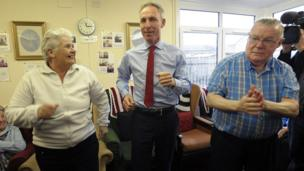 Jim Murphy campaigning for the General Election