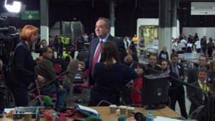 Alex Salmond at count