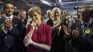 Nicola Sturgeon at the Glasgow count