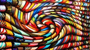 An image of distorted ties