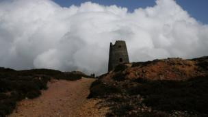 This view of the former mill at Parys mountain, near Amlwch on Anglesey was captured by Lisa Hooton.