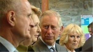 Prince Charles met former Irish President Mary McAleese at a church service on Wednesday