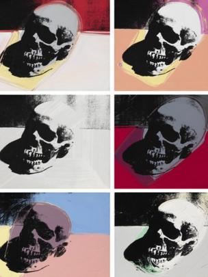Skulls (1976), by Andy Warhol