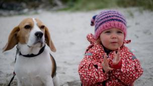 Lana and Molly the beagle