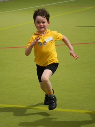 Zack at sports day