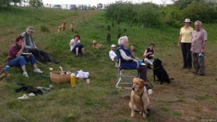 People at a dog training event