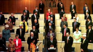 The Queen attends the official state opening of the Scottish Parliament in 1999