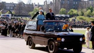 The Queen and Prince Philip in Edinburgh in 1977