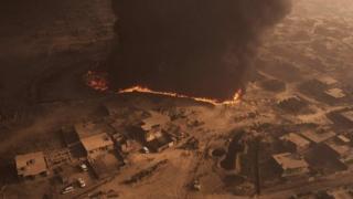 Incendio en Qayyarah