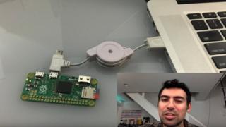 Samy Kamkar shows off his device