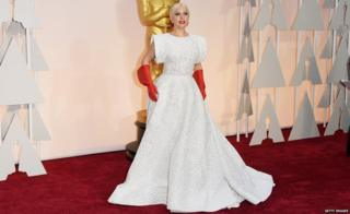 Singer Lady Gaga attends the 87th Annual Academy Awards in Hollywood, 22 February 2015