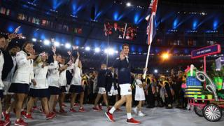 Andy Murray and Team GB at the Olympics opening ceremony