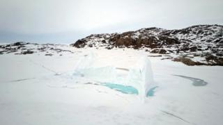 Pedazos de hielo