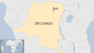 Map showing the location of the Ituri province in the north-east of the Democratic Republic of the Congo