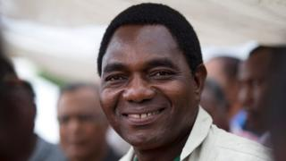 United Party for National Development (UPND) presidential candidate Hakainde Hichilema smiles during a rally in Lusaka, Zambia January 18, 2015.
