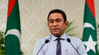 Maldives President Yameen Abdul Gayoom - file photo