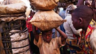 A child selling charcoal in Kabezi, Burundi (photo from 24 June 2015)