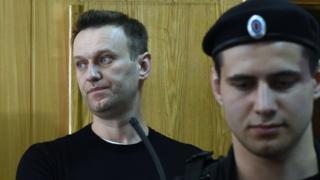 Alexei Navalny (kushoto) aliitisha maandamano kupinga ufisadi ndani ya serikali