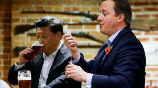 David Cameron and President Xi